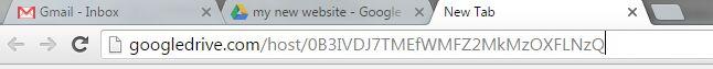Pasting Folder ID in URL