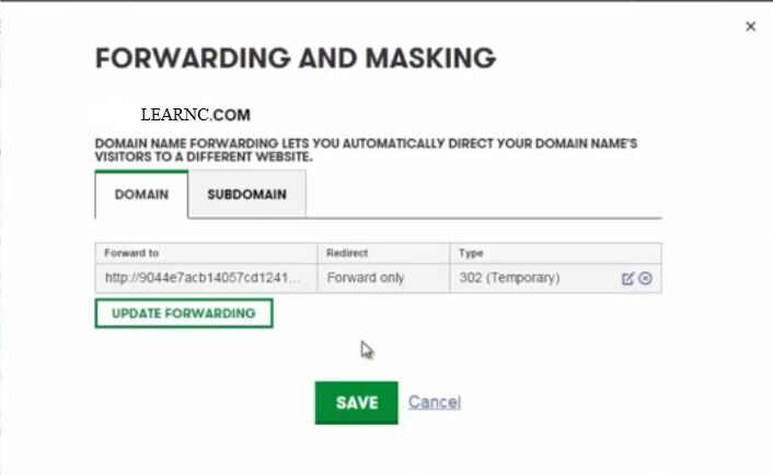 Forward and Masking
