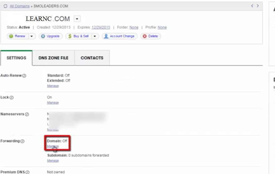 managing domain