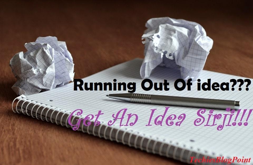 Get An Idea Sirji!!!