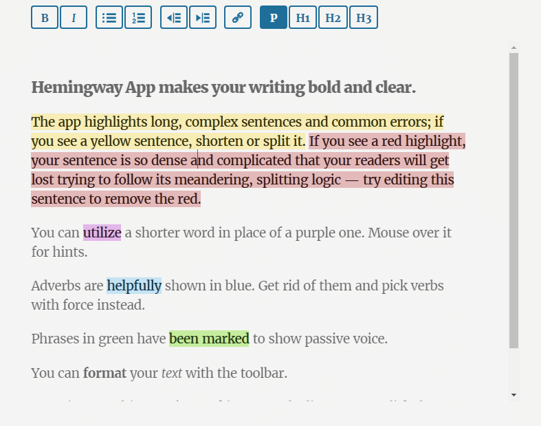 hemingwayapp for viral content
