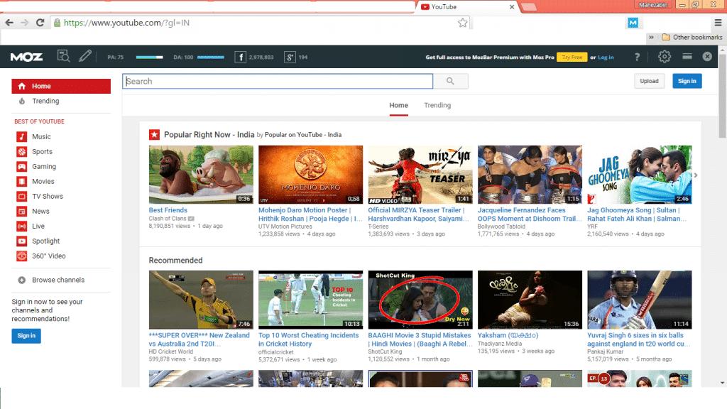 youtube MozBar