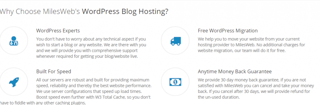 Why to Choose MilesWeb Hosting